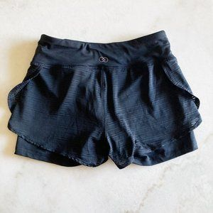 Calia by Carrie Underwood black layered shorts